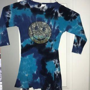 Blue tye dye dress